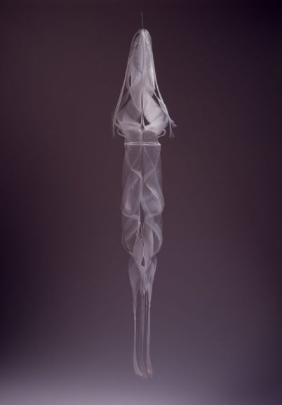 Kay Sekimachi, White Hanging Sculpture, 1968. Charles Frizzell photograph