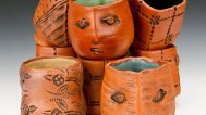 Clary Illian, Tea Bowls. Courtesy of Sanjay and Jigna Jani, Todd Thelen & Eric Dean and the Cedar Rapids Museum of Art, Tanya Schulte/AKAR Gallery photograph