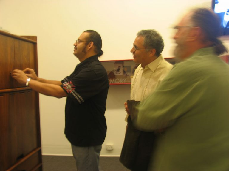 Larry shows cabinet