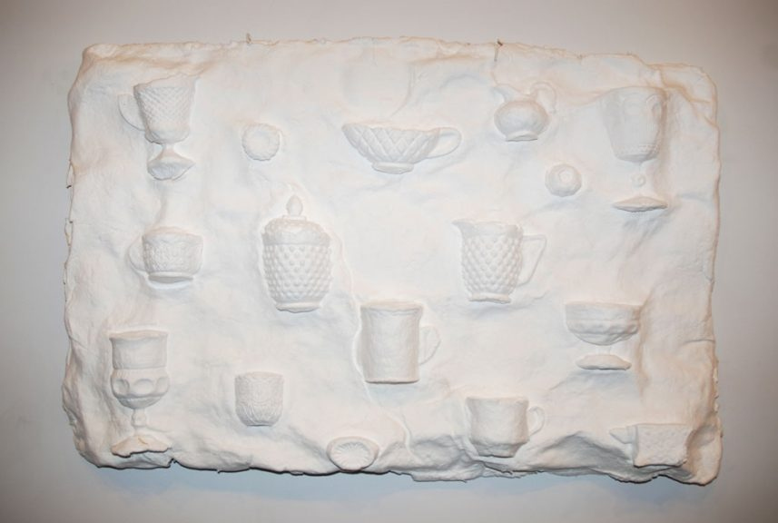 Laura Wood, Sweet Nothings, 2010. Handmade paper and cotton