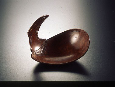 Norm Sartorius, Kroger Spoon, 1998 Hand carved coconut shell