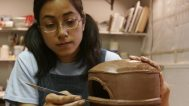 Shoko Teruyama at Penland School of Crafts, 2006. Jennifer Gerardi photograph