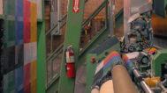 The Oriole Mill loom. Mark Markley photograph