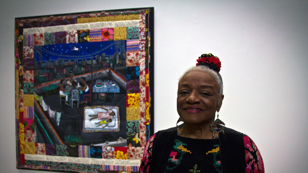 Faith Ringgold with Tar Beach. Mark Markley photograph