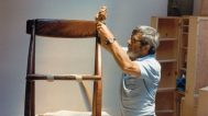 Arthur Espenet Carpenter building the Wish Bone chair