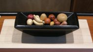 Janel Jacobson, Tray with carved miniature Fruit
