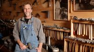 Randy Stromsoe in his studio