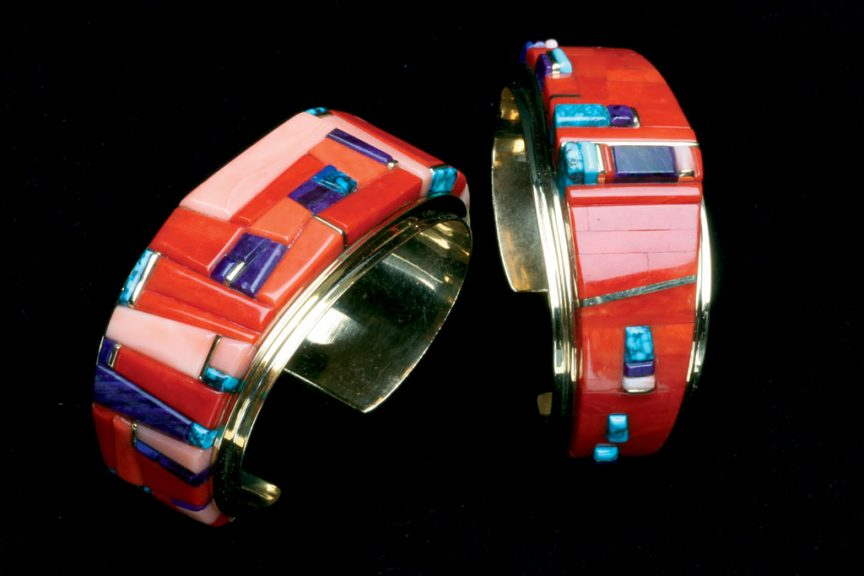 Charles Loloma, Silver Channel-Set Bracelet, c. 1975. Courtesy of Ornament Magazine, Robert K. Liu photograph, assisted by Karen Williamson
