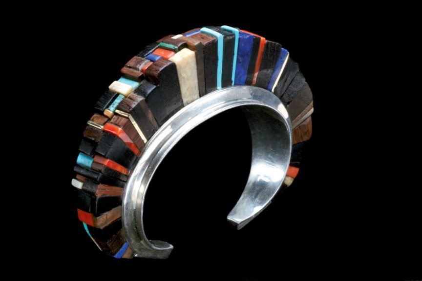Charles Loloma, Bracelet. Courtesy of Ornament Magazine, Robert K. Liu photograph, assisted by Karen Williamson