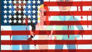 Faith Ringgold, The Flag is Bleeding, 1967, oil on canvas