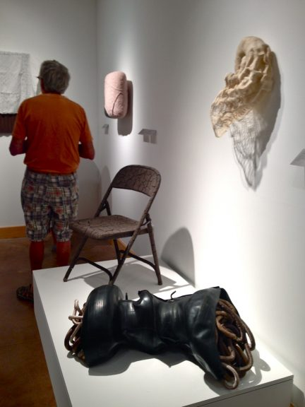 Jennifer Anderson, Folding Chair, 2014; Victoria May, Study in Convulsion #3, 2014 (front)