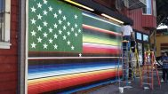 Victor De La Rosa, 2013, Future Flags of America: Study for 2050 U.S. Flag Tag