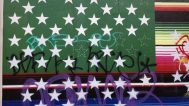 Victor De La Rosa, 2013, Future Flags of America: Study for 2050 U.S. Flag Tag Detail