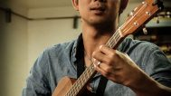 Jake Shimabukuro playing his Kamaka ukulele. Mark Markley photograph