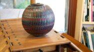 Caleb Siemon, Red Mokume Sphere, 2011