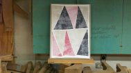 Christy Matson, Triangles in Pink, Red, Black and Tan, 2013