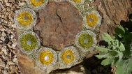 Arline Fisch, Yellow/Green Flower Wreath, 2013