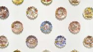 Jessica Putnam-Phillips Onward & Upward, 2014 Porcelain, mishima decoration, underglaze, glaze, Mother-of-Pearl, platinum luster