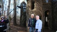 Dougherty with Hillsborough Town Mayor Tom Stevens