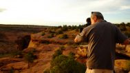 Filming in Canyon de Chelly