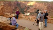 Filming Barbara in front of Spider Rock