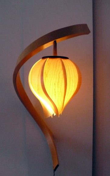 Brett A. MacLearnsberry, Lonely Blossom wall light, 2014