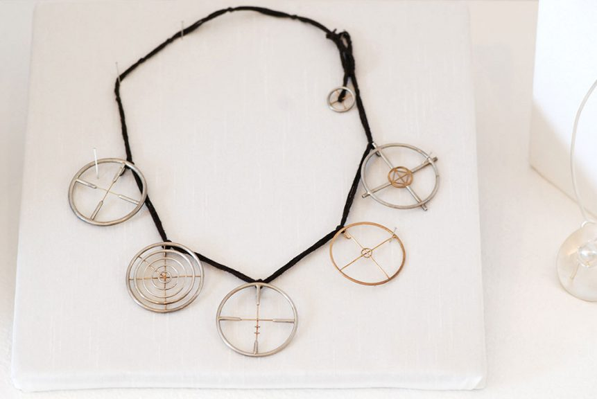 Jana Brevick, Target Practice Necklace, Moving Target Series, 2006
