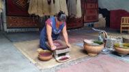 Grinding Pigment Dye, Vasquez Family, J. Isaac Vasquez Garcia, Borders Neighbors, El Pueblo, Craft in America
