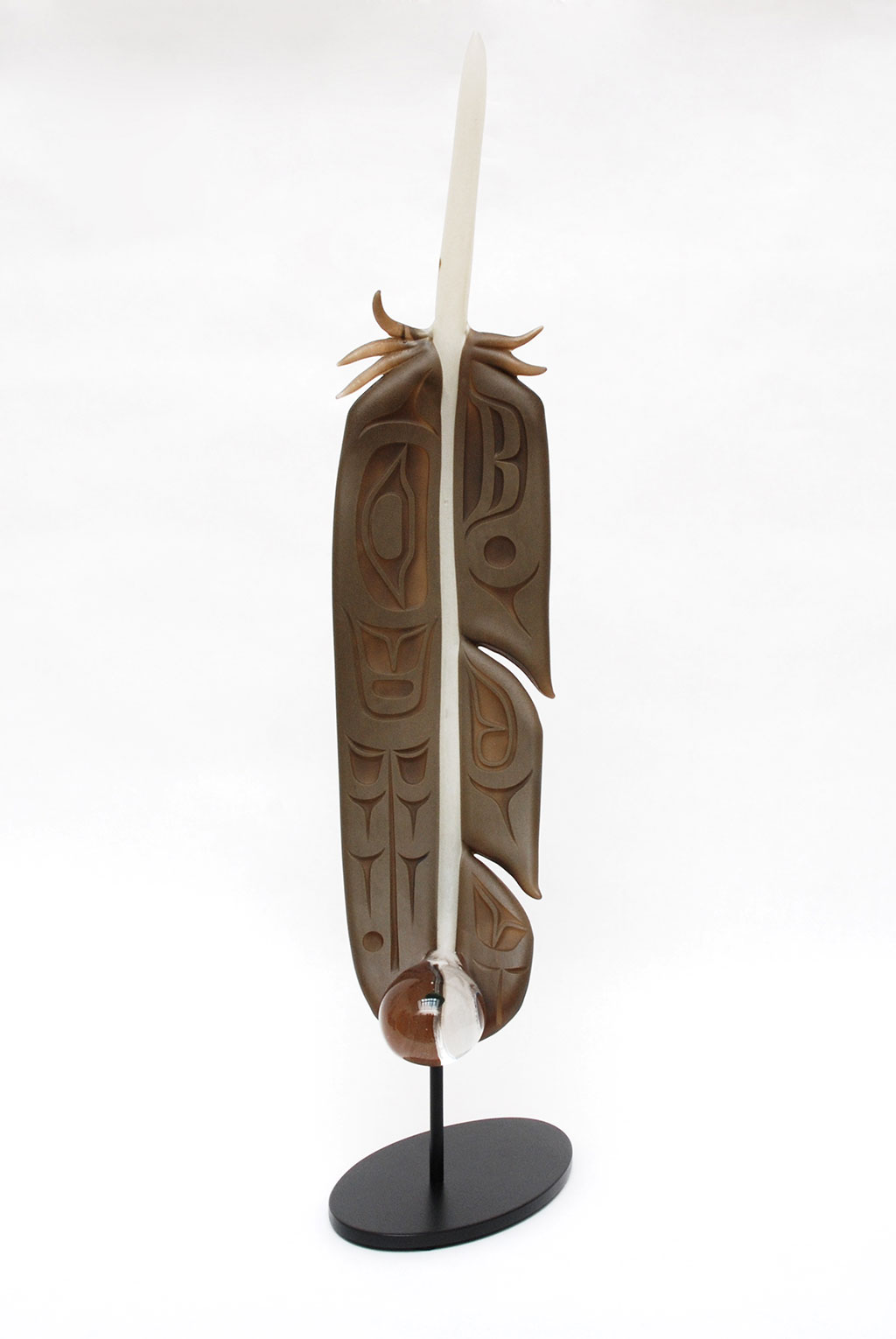 """Preston Singletary, Feather from """"Raven and the Box of Daylight"""" series, 2016"""