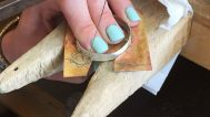 Sawing the brass base of the bezel
