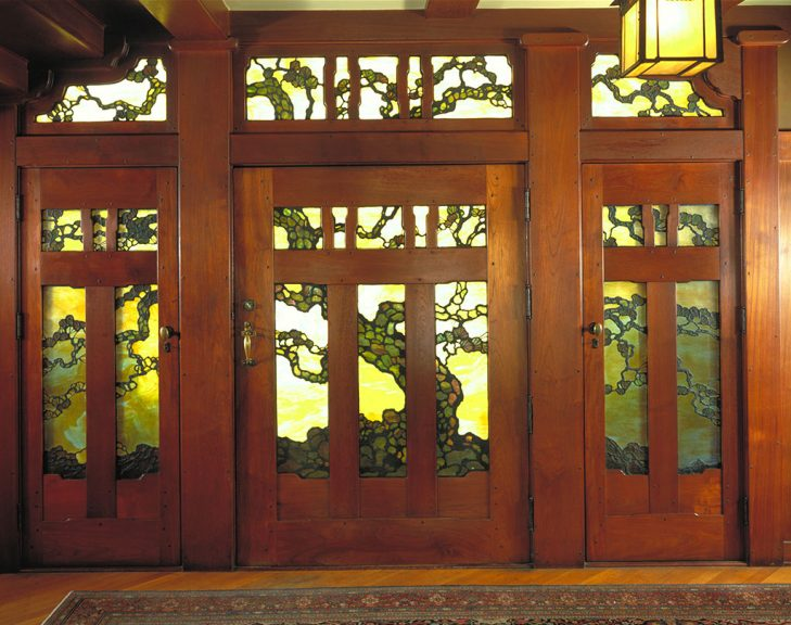 The Gamble House front door. Courtesy of The Gamble House, USC. Photograph © Tim Street-Porter