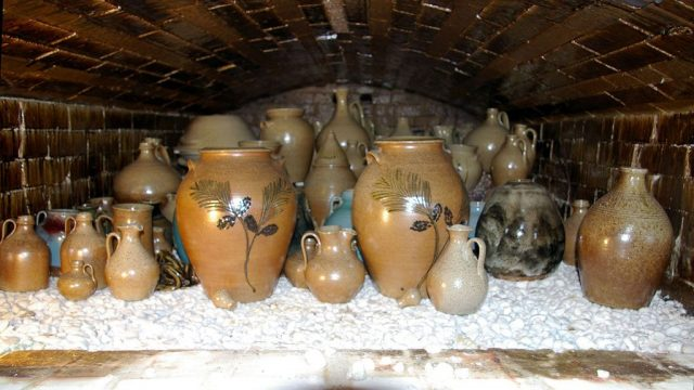 Pots made by Vernon, Pam, and Travis Owens at Jugtown Pottery, 2007, Kiln, Origins