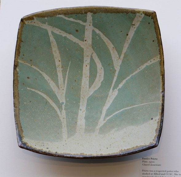 Eunice Prieto, Plate, Glazed Stoneware, 1970's, California Visionaries: Seminal Studio Craft, Featuring Works from the Forrest L. Merrill Collection