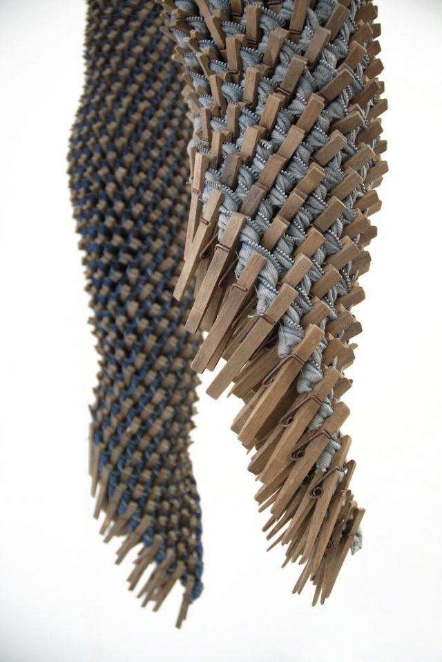 Karyl Sisson, Skin (Blue) (Gray), Fissures and Connections, Craft in America