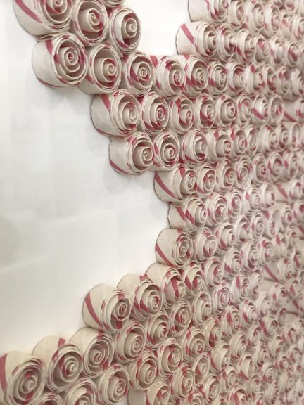 Karyl Sisson, Candy Stripe Amoeba from the Three Amoebas group, 2017, Fissures & Connections