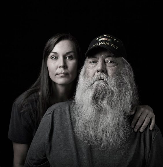Cara Romero and her father
