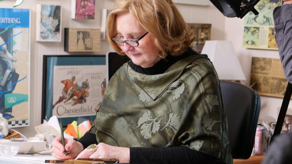 Calligrapher Sammy Little. Craft in America DEMOCRACY